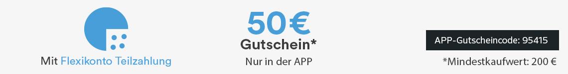 50€ Gutschein mit Flexikonto Teilzahlung