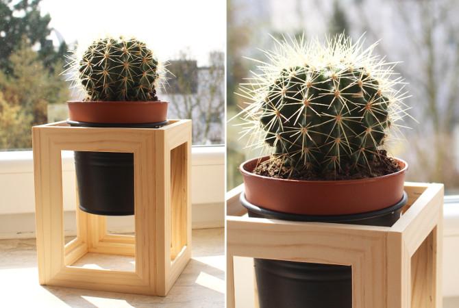 Pflanzenständer aus Fotorahmen