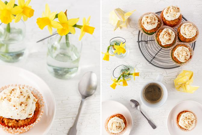 Karotten-Kokosnuss-Cupcakes