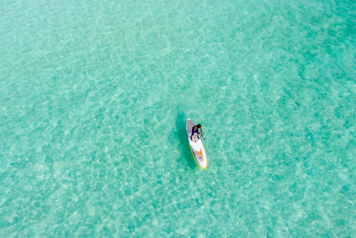 Stand Up Paddling am Meer