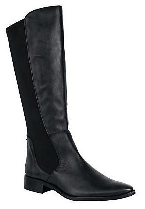 schwarzer Stiefel aus Nappaleder