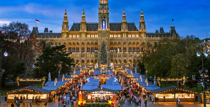 Weihnachtsmarkt Wien beim Wiener Rathaus