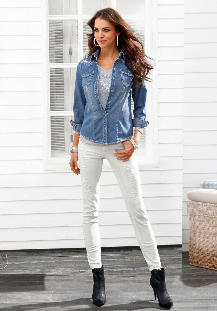 jeans hemd und weibe hose modische hosenmodelle. Black Bedroom Furniture Sets. Home Design Ideas