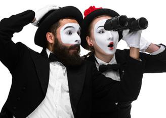 Clowns im Business-Look