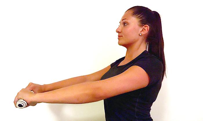 Übung Nacken und oberer Rücken