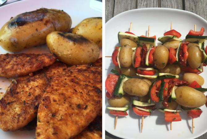 Veganes Gegrilltes - Kartoffelspieß