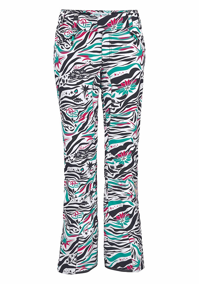 Ski-Outfits: Skihose mit buntem All-over-Muster