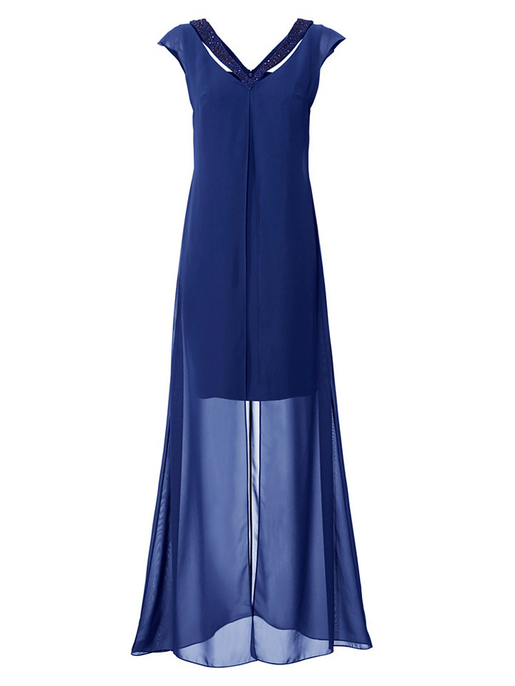 Märchenhafte Ballkleider: Royalblaues Kleid im effektvollen Lagen-Look
