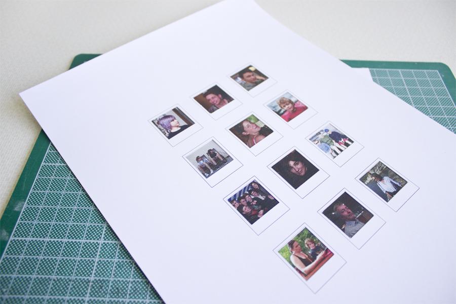 Schön Leere Polaroid Vorlage Zeitgenössisch - Dokumentationsvorlage ...
