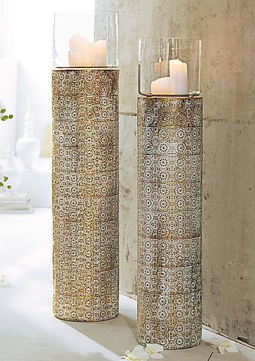 Deko für den Garten: Kerzenständer