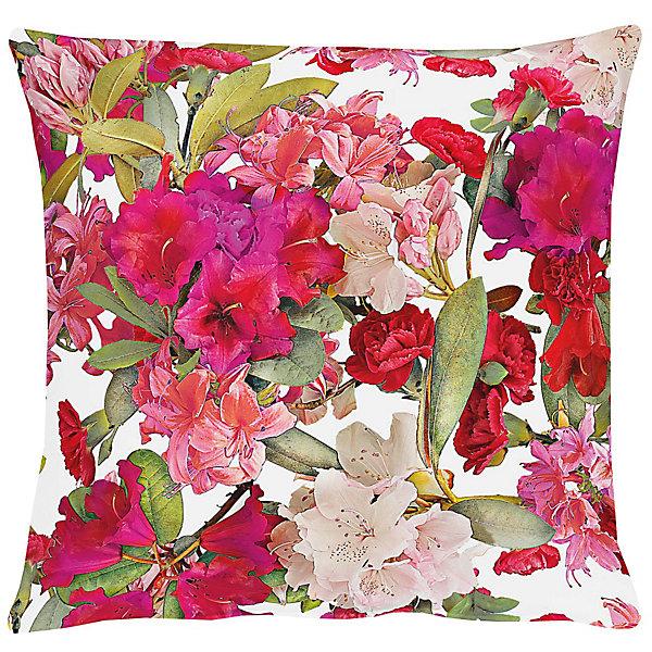 Deko für den Garten: Kissenhülle mit Blumen