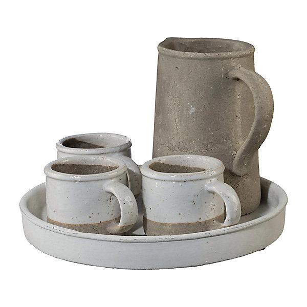 Deko für den Garten: Pflanzenbecher aus Keramik