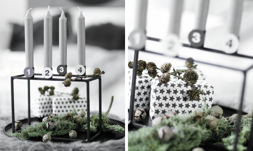 adventskranz adventskranz exklusiv metall ge st silber. Black Bedroom Furniture Sets. Home Design Ideas
