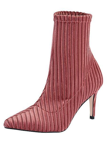 Glam Velvet: Rosa Stiefeletten aus Samt