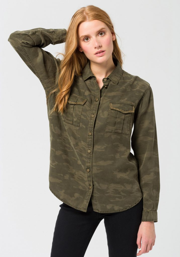 Stylingtrend Camouflage: Bluse