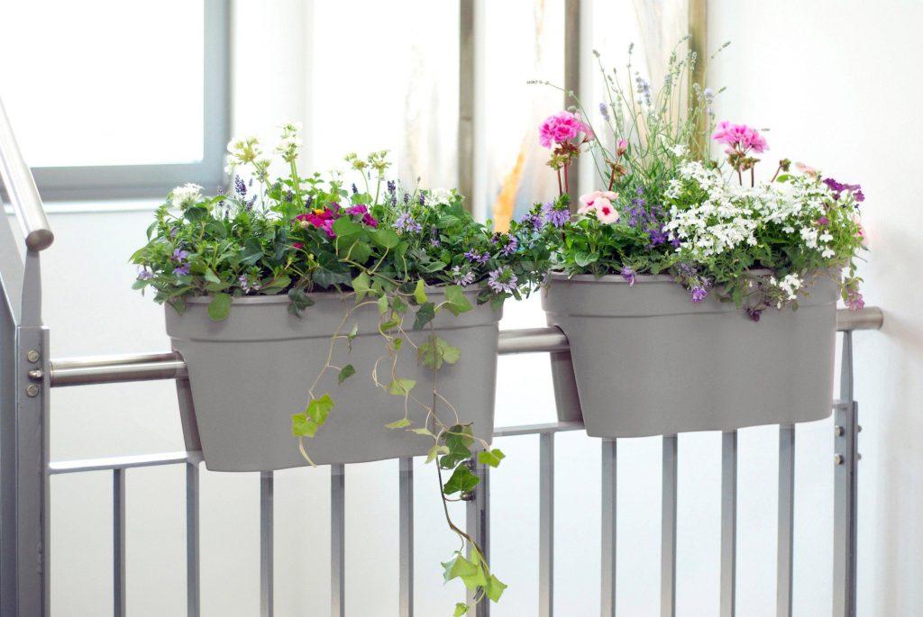 Trends für den Garten: Blumenkästen in Grau