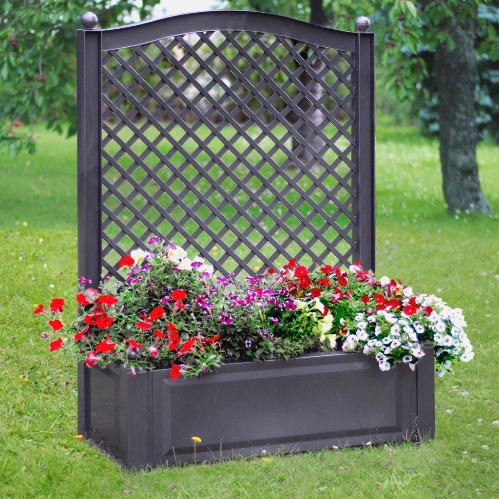 Trends für den Garten: Spalier mit Blumen