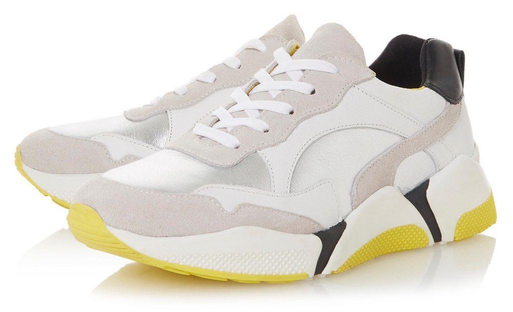 Ugly Sneaker in Grau-Weiß-Schwarz-Gelb