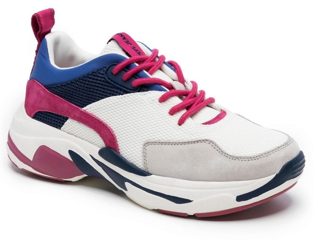 Ugly Sneaker in Pink-Blau-Weiß-Schwarz