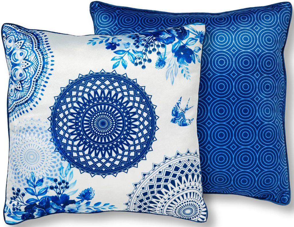 Farbtrend Weiß und Blau: Dekokissen