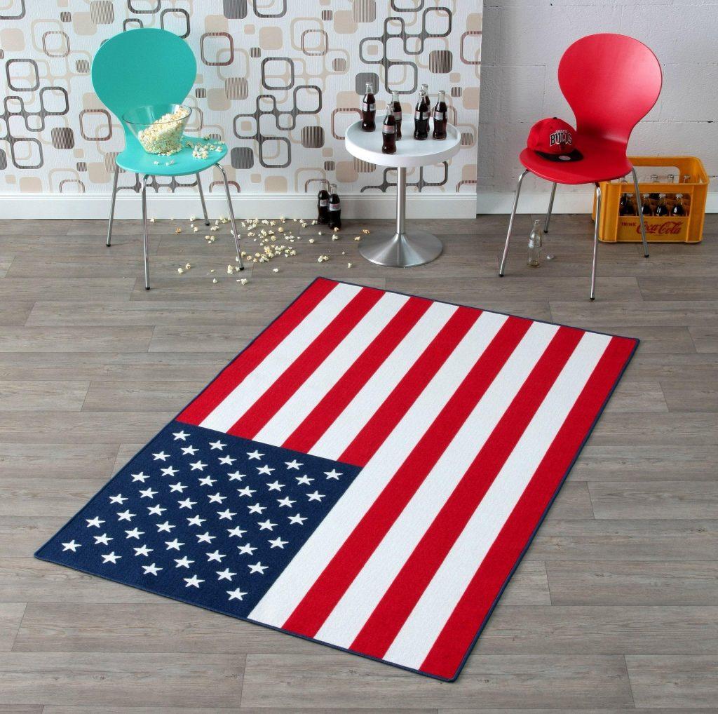 Wohnen wie im Urlaub: Teppich USA-Flagge
