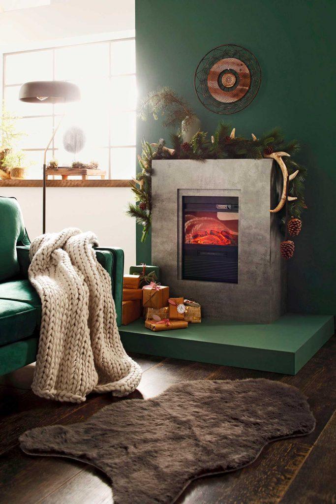 Herbstdeko zu Hause: Strickdecke
