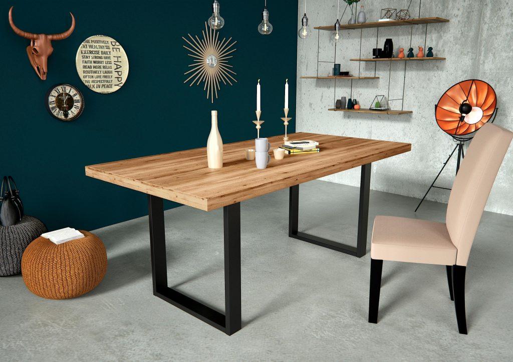 Weihnachtstrends: Holztisch