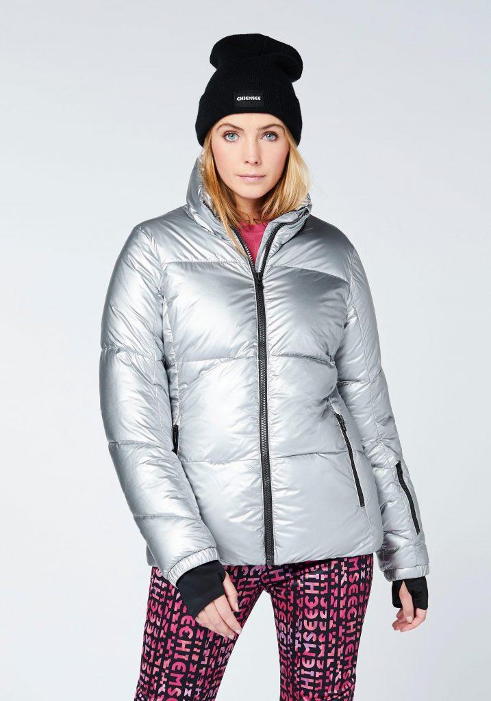 Berg Outfits: Jacke im Metallic-Look